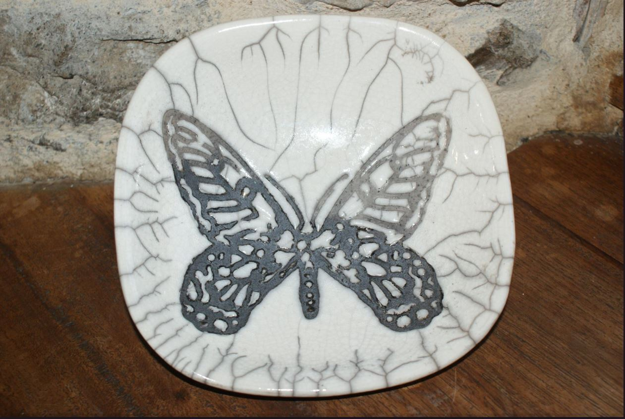 Coupe raku papillon