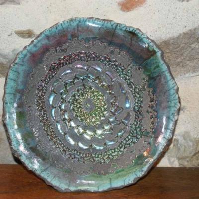 Coupe Raku turquoise