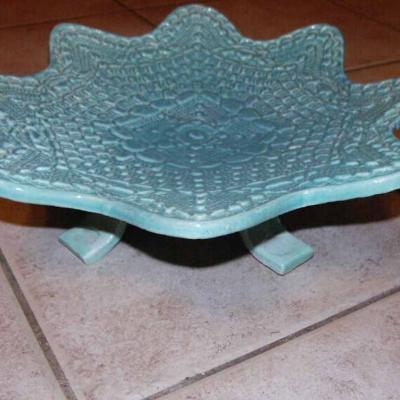 Coupe fruit dentelle bleu lagon 1