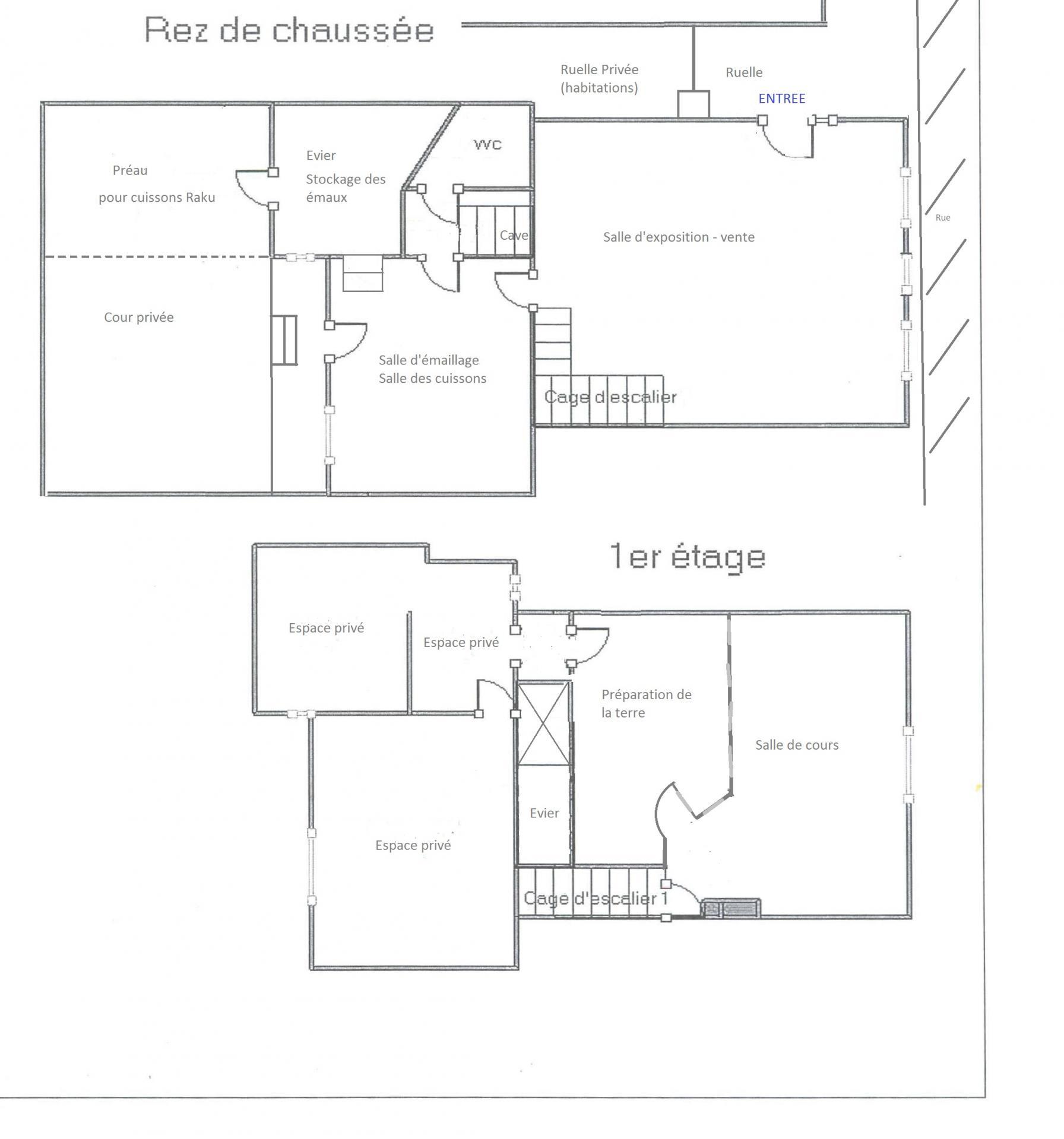 Plans atelier st martin rdc et 1er etage